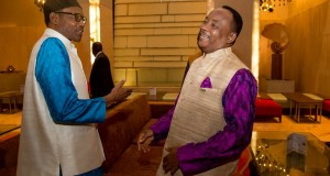 President Buhari meets with President of Niger Republic Mahamadou Issoufou in at the LALIT Palace Hotel during his 4 days official visit to New Delhi India to attend the 3rd India-Africa Forum Summit on 28th Oct 2015: Courtesy: Album of Mr. Femi Adesina, Special Adviser on Media and Publicity to President Buhari
