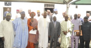 Group Photograph of the Executive Governor of Plateau State, Management team of Nigerian Shippers' Council and Ducan Maritime Ventures Ltd