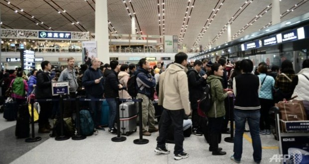 IATA said it now expects air passenger numbers to grow 3.8 per cent on average each year through 2034, taking the annual figure to double from the 3.5 billion expected this year. (AFP/Goh Chai Hin)