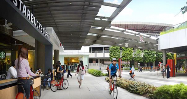 rtist's impression of proposed bicycle-sharing infrastructure in the Jurong Lake District. (Image: LTA)